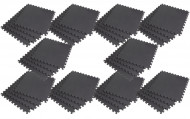 Interlocking EVA Soft Foam Exercise Gym Floor Mats - Black - 4 x 10 Box
