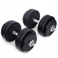 TNP ACCESSORIES® Adjustable Dumbbell 50kg Set- Free Weights