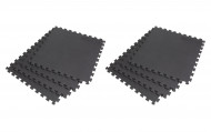 Interlocking EVA Soft Foam Exercise Gym Floor Mats - Black - 4 x 2 Box