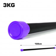 TnP Accessories Aerobic Weighted Bar 3Kg Purple