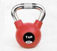 TnP Accessories Chrome Handle Rubber Coat Kettlebell Red 4Kg