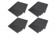 Interlocking EVA Soft Foam Exercise Gym Floor Mats - Black - 4 x 4 Box