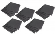 Interlocking EVA Soft Foam Exercise Gym Floor Mats - Black - 4 x 5 Box