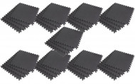 Interlocking EVA Soft Foam Exercise Gym Floor Mats - Black - 4 x 9 Box