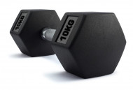 TNP ACCESSORIES®  Hexagonal Rubber Encased Dumbbells 10Kg Pair