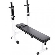 Flat Weight Bench with Power Rack