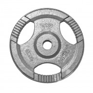 "TnP Accessories Tri Grip Olympic Weight Plate 2"" 25Kg Silver"