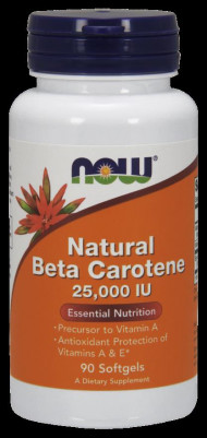 NOW Foods Natural Beta Carotene 25000IU 90 Softgels
