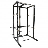 Power Rack Workout Cage & Cable System - Black