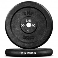 "TnP Accessories Round Cast Iron Weight Plate 1"" 25Kg Black"
