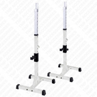 Olympic Squat Rack Power Stand - White