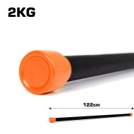 TnP Accessories Aerobic Weighted Bar 2Kg Orange