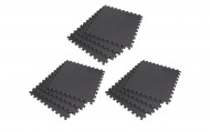 Interlocking EVA Soft Foam Exercise Gym Floor Mats - Black - 4 x 3 Box