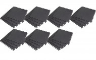 Interlocking EVA Soft Foam Exercise Gym Floor Mats - Black - 4 x 7 Box