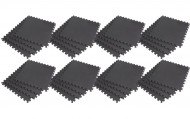 Interlocking EVA Soft Foam Exercise Gym Floor Mats - Black - 4 x 8 Box