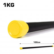TnP Accessories Aerobic Weighted Bar 1Kg Yellow