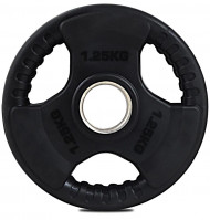 "TnP Accessories Tri Grip Olympic Rubber Weight Plate 2"" 1.25Kg Black"