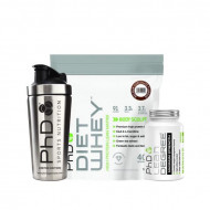 PhD Nurtition Diet Whey 1KG + Lean Degree Max Strength Fat Burner + 700ml Stainless Steal Shaker