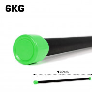TnP Accessories Aerobic Weighted Bar 6Kg Green