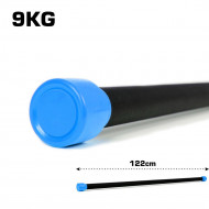 TnP Accessories Aerobic Weighted Bar 9Kg Light Blue