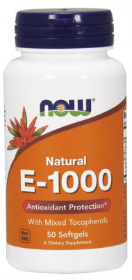 NOW Foods Vitamin E-1000 100 Softgels