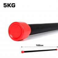 TnP Accessories Aerobic Weighted Bar 5Kg Red