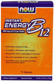 NOW Foods Vitamin B-12 Instant Energy 75 Packets