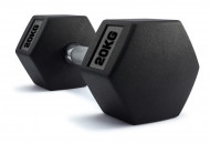 TNP ACCESSORIES® Hexagonal Rubber Encased Dumbbells 20Kg Pair