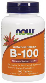 NOW Foods Vitamin B-100 Sustained Release 100 Tabs