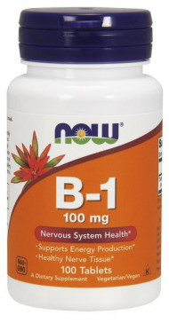 NOW Foods Vitamin B-1 Thiamine 100mg 100 Tabs